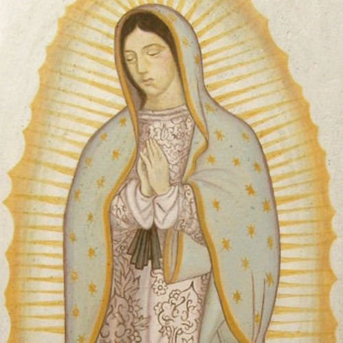 Virgin de Guadalupe, Loampainting W.hofer